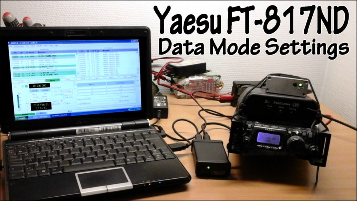 Yaesu FT-817ND Data Modes Settings