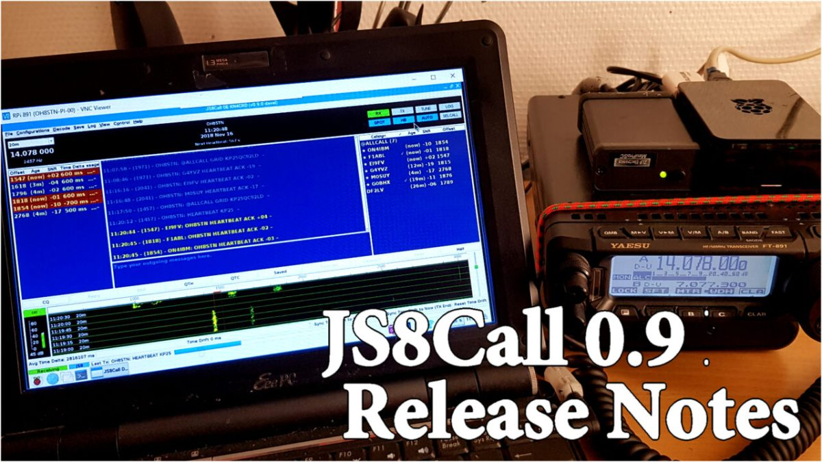 JS8Call 0.9 Release notes