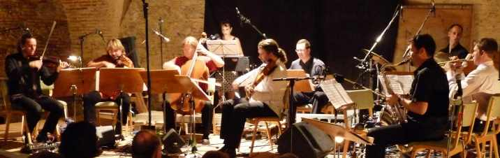 Performing with Mass Transformation Nonet in St Florian, Austria