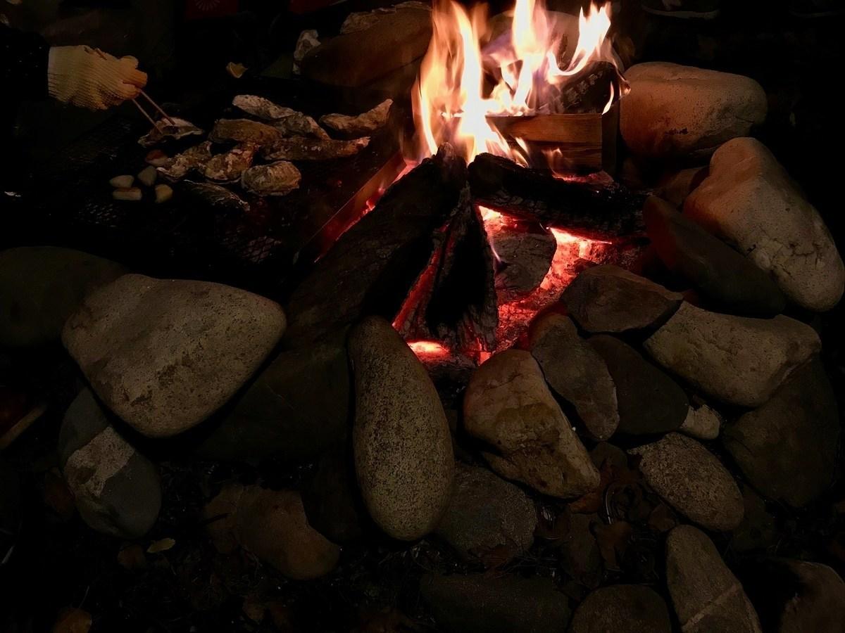 日記:火を囲んで牡蠣を食べた