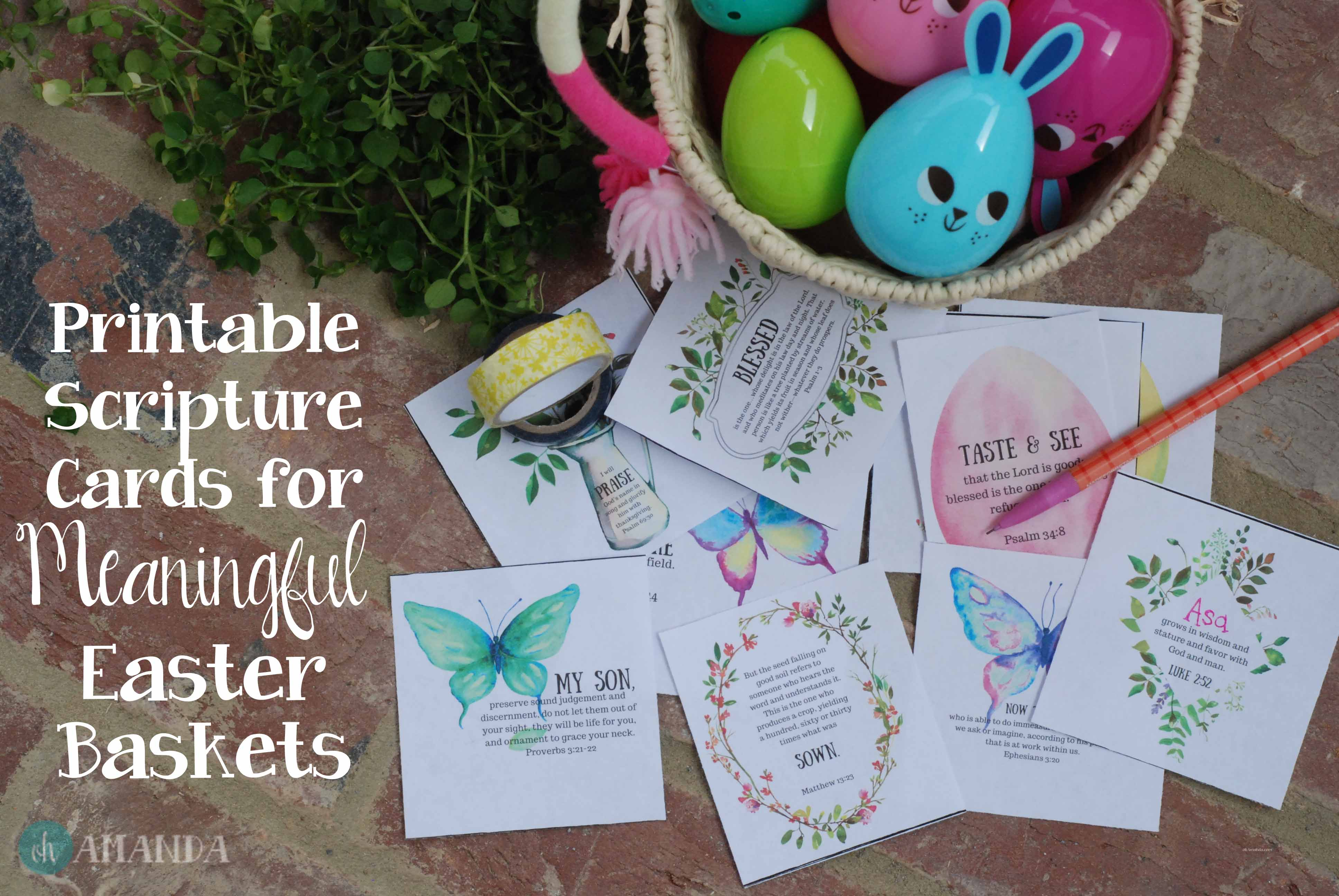 Easy Scripture Ideas For Meaningful Easter Baskets Free