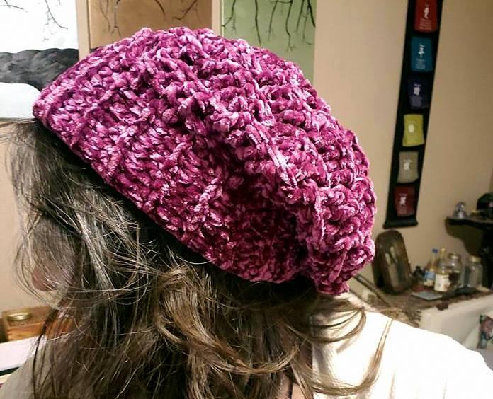 Velvet Basket Weave Slouch