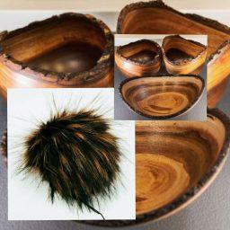 brown copper koa wood pom made by 'ohana boutique