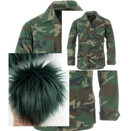 army green fort shafter pom made by 'ohana boutique