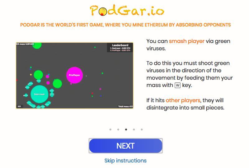 ブロックチェーンゲーム Dapps Podgar 攻略法