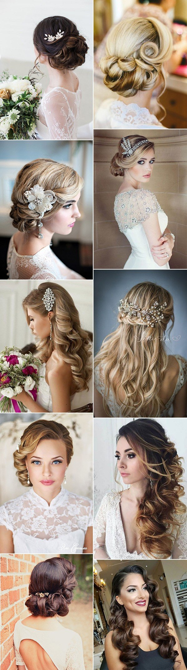 top 20 vintage wedding hairstyles for brides - page 2 of 3