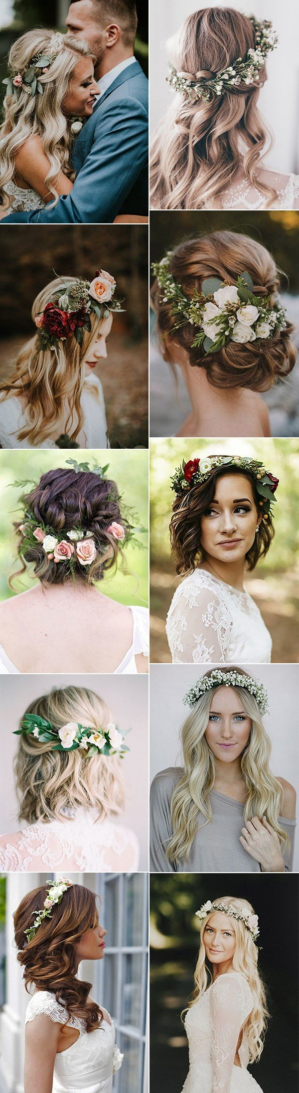 18 gorgeous wedding hairstyles with flower crown - oh best