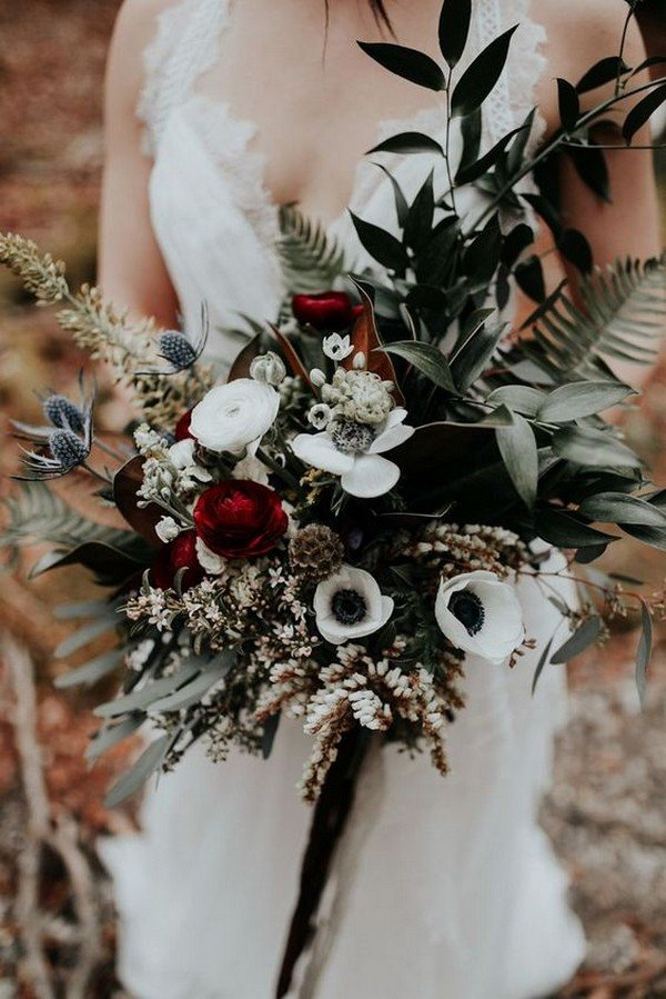 Fall Flowers Wedding Bouquets