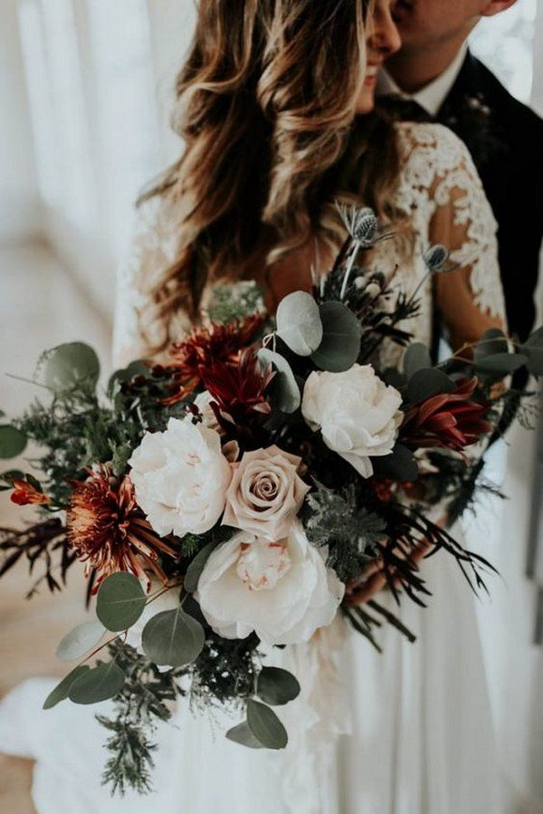 Top 25 Moody Wedding Bouquets For 2018 Trends Page 2 Of