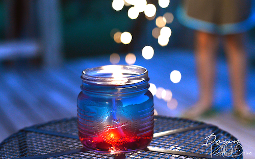 Patriotic Citronella Jelly Candle - Easy 4th of July Crafts to Sell
