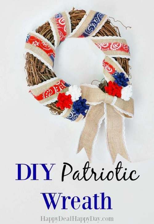 DIY Patriotic Wreath - Simple 4th of July Crafts to make and sell