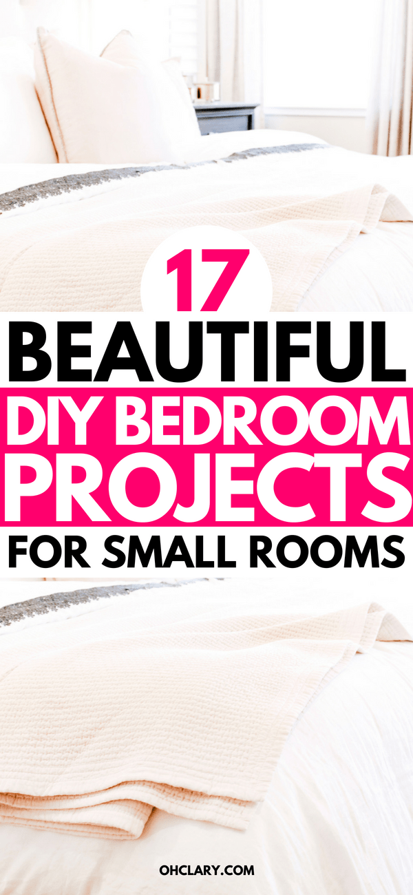 OMG! How beautiful are these DIY bedroom decor ideas?! They are perfect for teens, couples and great for small rooms. You can do all of these DIY bedroom decor projects on a budget. #bedroom #bedroomideas #bedroomdecor #diyhomedecor