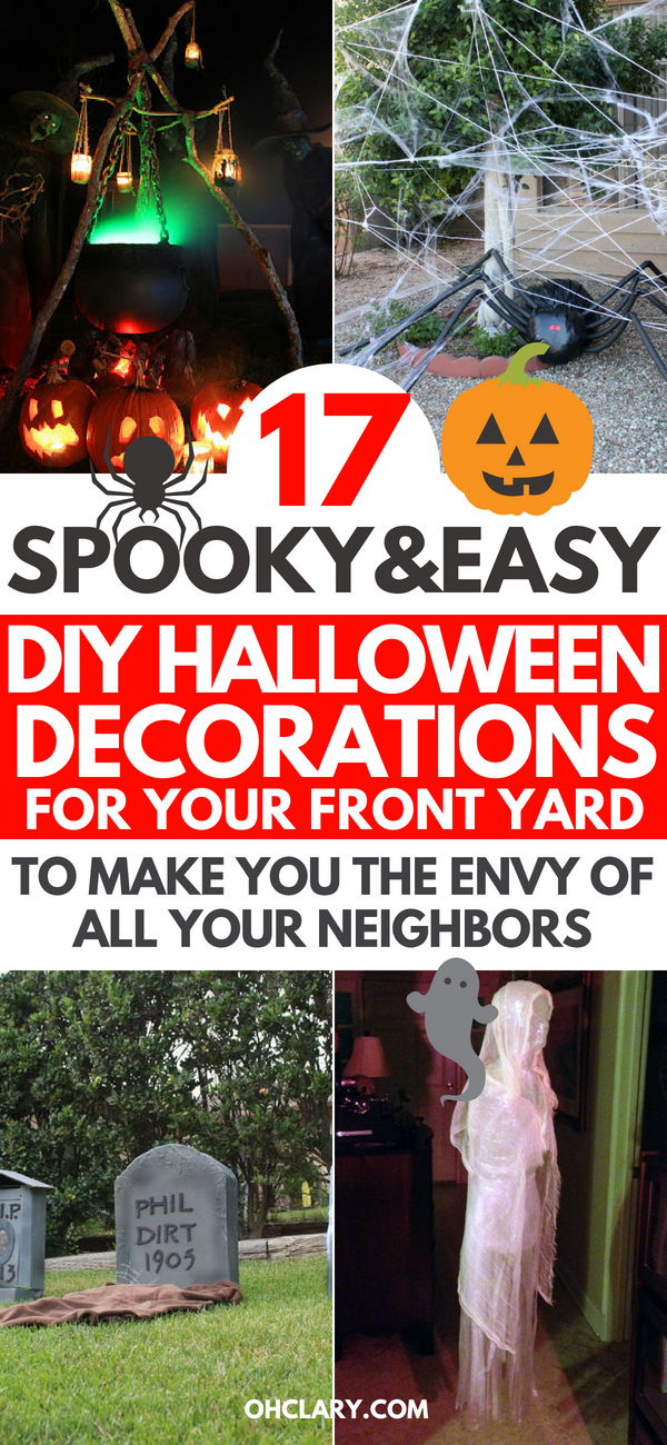 17 Diy Halloween Decorations For Outdoor For A Super Scary Front Yard 2019