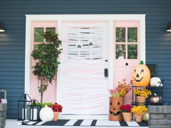 Mummify Your Front Door Halloween