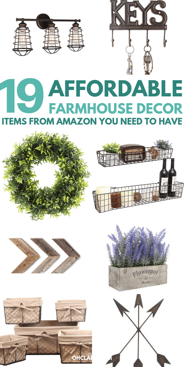 WOW, these Amazon farmhouse finds are the cutest! I love affordable farmhouse decor and this list hits the spot! #8 is my favorite on the list!! Definitely PINNING this for later so I can come back to it when I get paid!