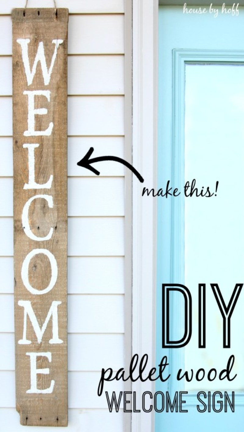 DIY Pallet Wood Sign. 14 DIY Farmhouse Signs you can make on a small budget. Farmhouse decor can cost a lot but these rustic wood signs are affordable to make. If you love Joanna Gaines than you have to try these projects! Guide to how to make a farmhouse sign, farmhouse signs for kitchen, bathroom farmhouse sign DIY, DIY wood signs, Farmhouse Sign Decor, Make you own farmhouse sign, farmhouse signs DIY guide