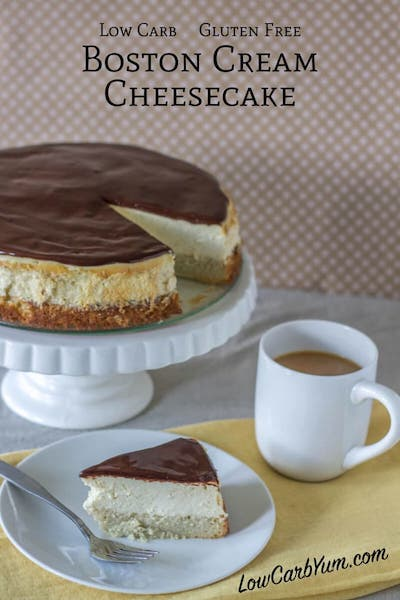 Low Carb Boston Cream Cheesecake - Easy Keto Cheesecake recipes that taste like real cheesecake! These no-bake keto cheesecakes are absolutely DELICIOUS! Click to find your new favorite quick keto dessert! #ketorecipes #ketodiet #ketocheesecake #ketodessert
