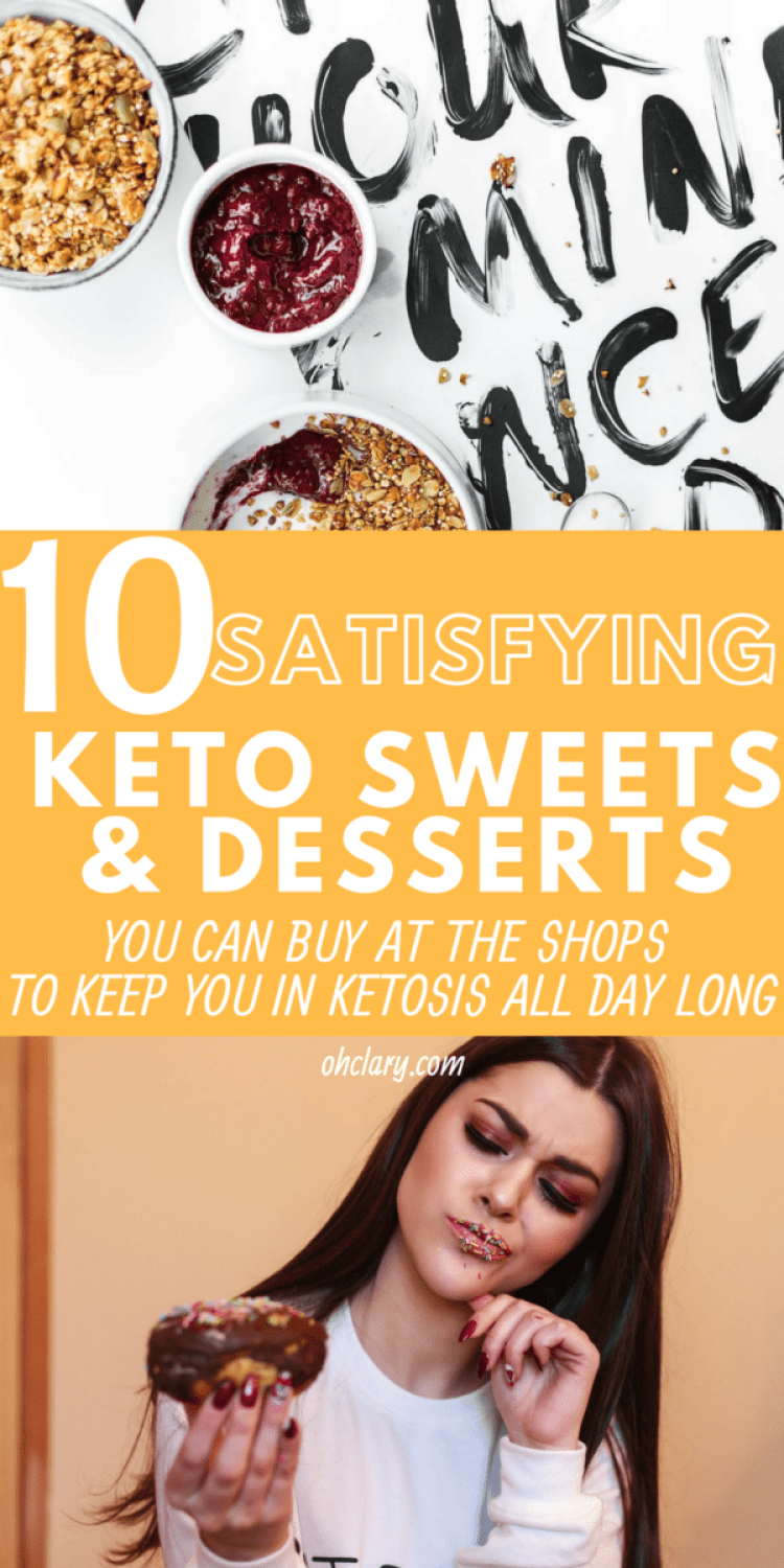 10 Delicious Keto Desserts and Sweets you can buy when you are on the go! The yummiest keto desserts recipes that are quick and delicious. These ketogenic desserts include chocolate, peanut butter and cream cheese. No bake keto fat bombs that will keep you body in ketosis all day long, even if you are too busy to cook the meals. Low carb desserts, Keto desserts to buy, keto sweets to buy #ketodesserts #fatbombs #ketochocolate #lowcarbsweets #ketosweets #ketocookies