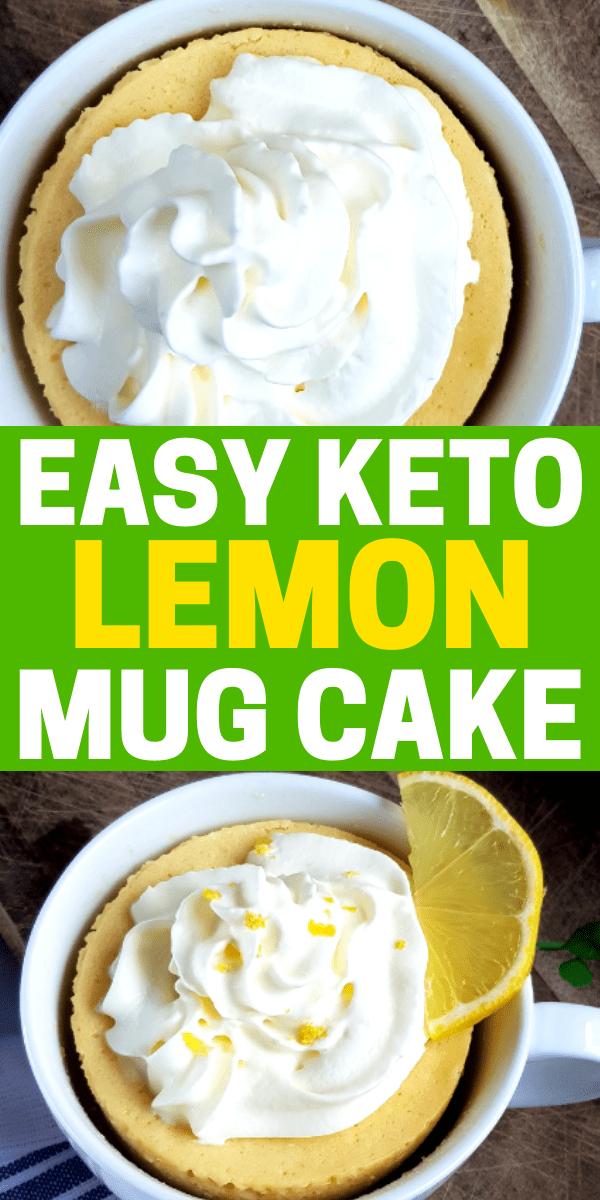 Keto Lemon Mug Cake - Easy Almond Flour Mug Cake You Need ...