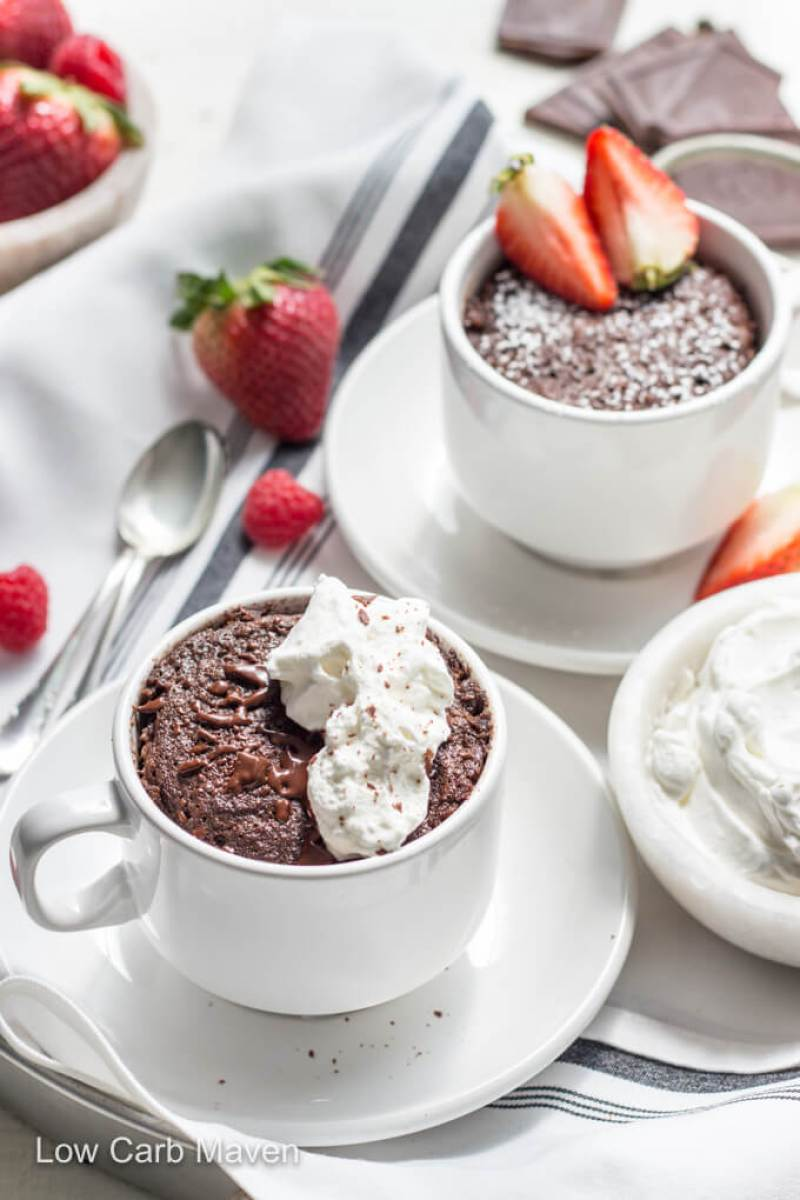 Delicious Keto Chocolate Mug Cake | 13 Delicious Keto Mug Cake Recipes To Try Right Now #ketomugcake #ketolavacake #lowcarbbrownies #lowcarb #lowcarbsweets #ketodesserts #ketofatbombs