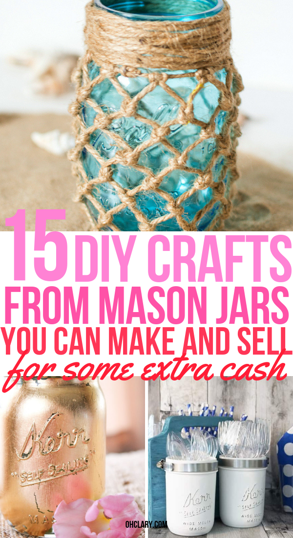 Mason Jar Crafts To Sell 2 Ohclary