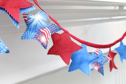 Memorial Day DIY Crafts Bunting Decoration - Cheap 4th of July Decorations to make and sell