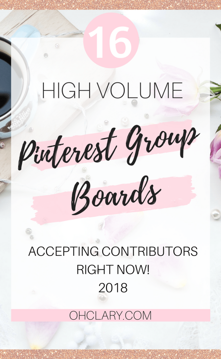 I have Complied a list of 16 High Volume Pinterest Group Boards that are currently accepting contributors and have no strict rules, no minimum followers and no almost pin limit! These are perfect if you are just getting started and want to kickstart your Pinterest journey and quickly gain views and followers!