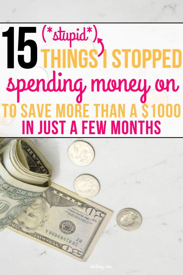 These frugal living tips are great!! SAVING MONEY can be as easy as buying less stuff that you don't need! Are you wasting money on these stupid purchases without even thinking about it? Find out now!
