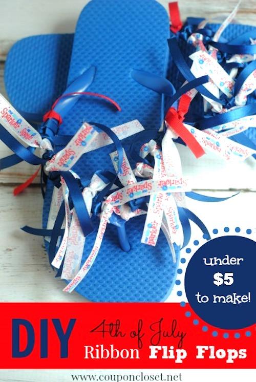 Patriotic Flip Flops - Patriotic crafts to sell