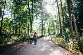 Genom skog och längs vägar i Lettland