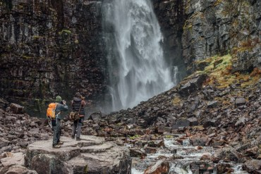 Njupeskär i Fulufjällets nationalpark i Dalarna