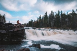 Utflykt till Fjätfallen i Dalarna