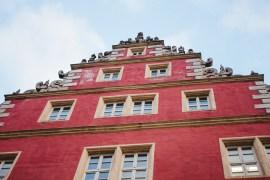 Wolfenbüttel - korsvirkehus, julmarknad och Jägermeister