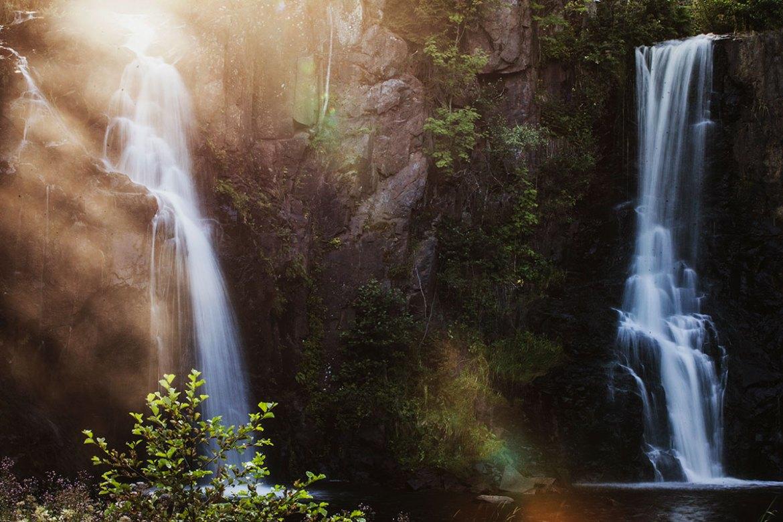 Stalpet vattenfall i Aneby Småland