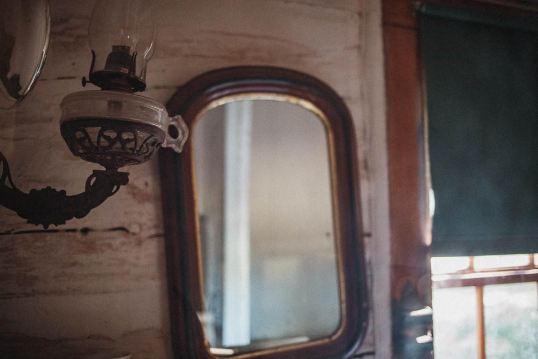 Insidan av Maltese Cross Cabin i Theodore Roosevelt National Park