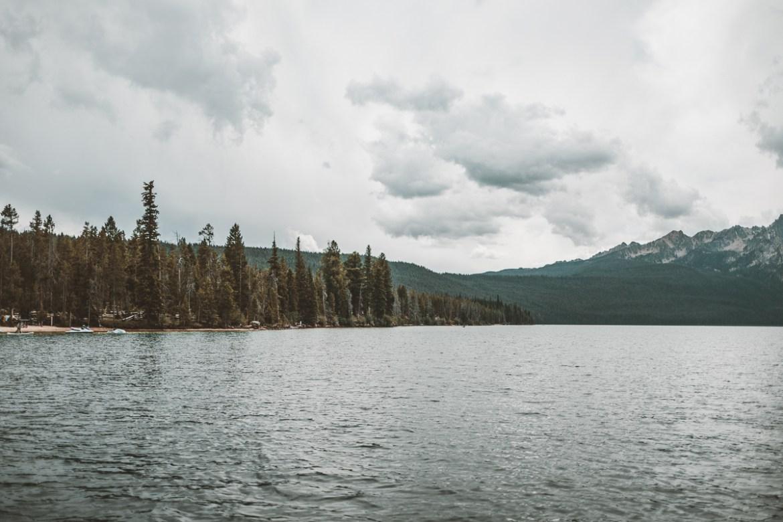 Båttur på Redfish Lake i Stanley, Idaho