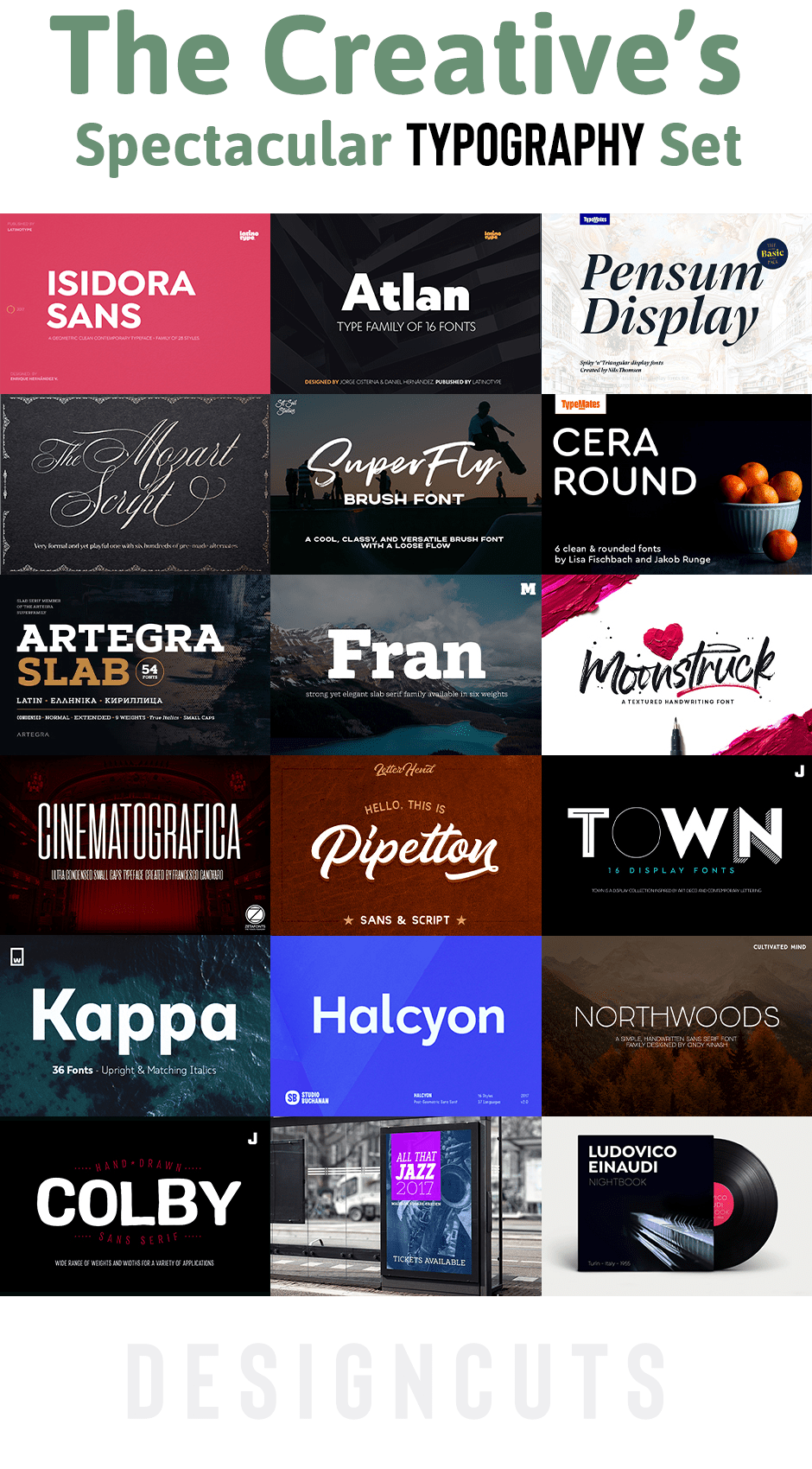 The Creative's Spectacular Typography Set - Design Cuts