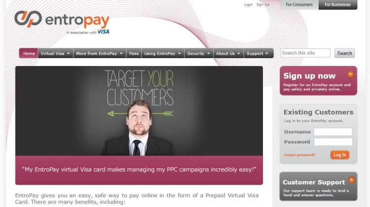 Entropay Virtual Credit Card