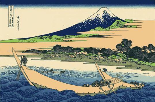 Costa da Baía de Tago, Ejiri em Tōkaidō
