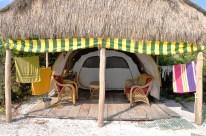 Unser Zelt direkt am Strand