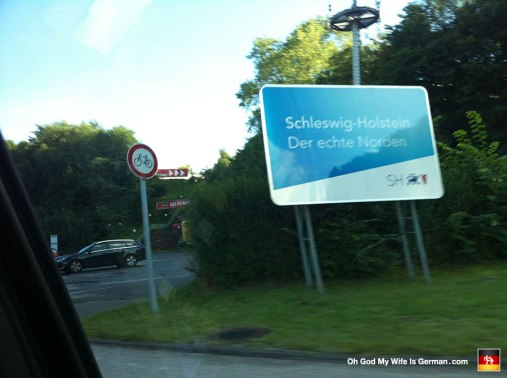 Here we are driving back into Germany. Another beautiful picture taken at high speed...
