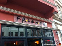 Does that sign look familiar? Oh yes, this cafe was modeled after the popular 90s sitcom, Friends.