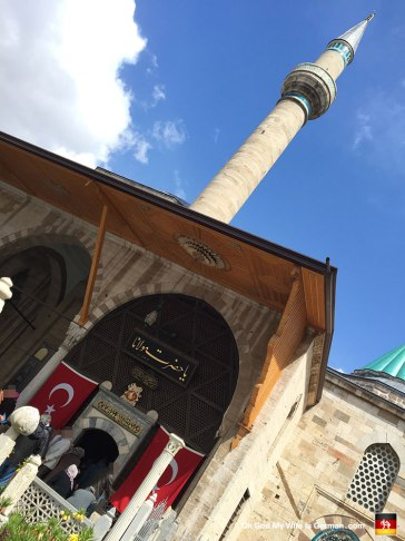 "Here's a shot outside the Mevlana Museum, during a 5-minute break in which the sun actually came out. ""Ahhhh, sweet vitamin D..."""