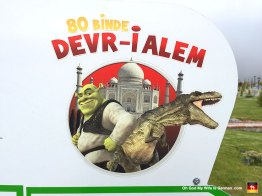 "Okay, so it's called, ""80 Binde Devri Âlem Parkı,"" which apparently has something to do with Shrek, international monuments and fucking dinosaurs."
