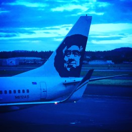 Back in PDX! We returned to Portland on a flight with Alaskan Airlines. I'll never understand the relationship between Alaska and Hawaii. I've been to both places, and they're pretty much exact opposites.