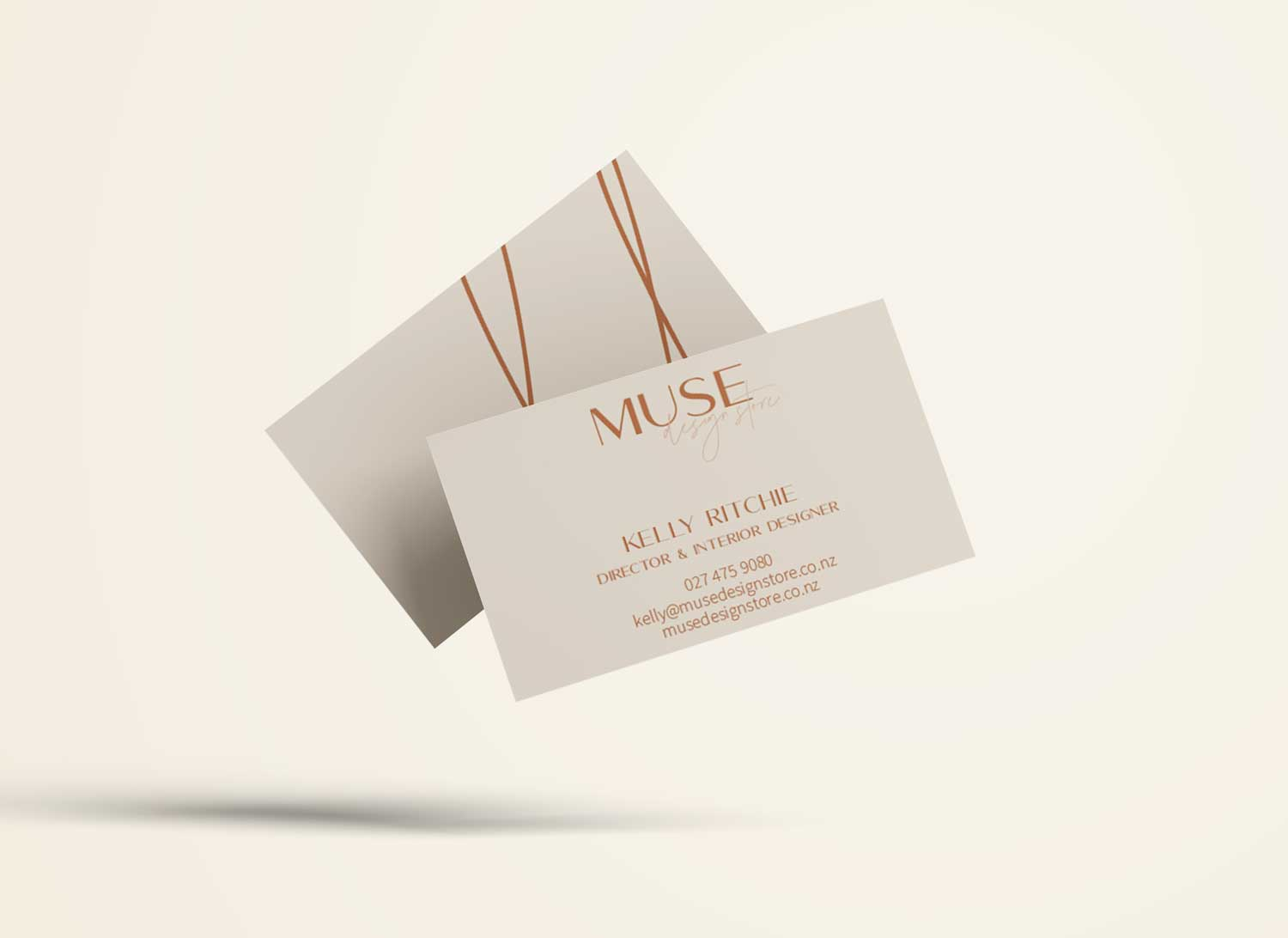Muse Design Store Business Cards