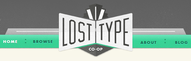 Lost Type: Best Font Collection for Web Designers