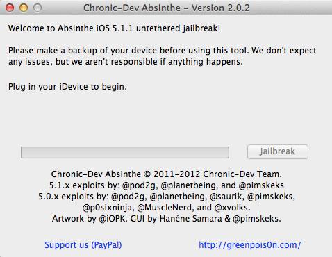 Use Absinthe to Jailbreak iOS 5.1.1