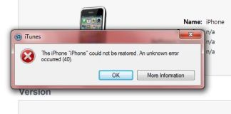 How to Fix iTunes Error 40