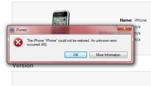 How to Fix iTunes Error 40